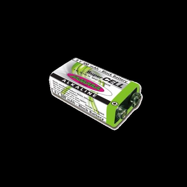 9V Block Alkaline SuperCell Batterie