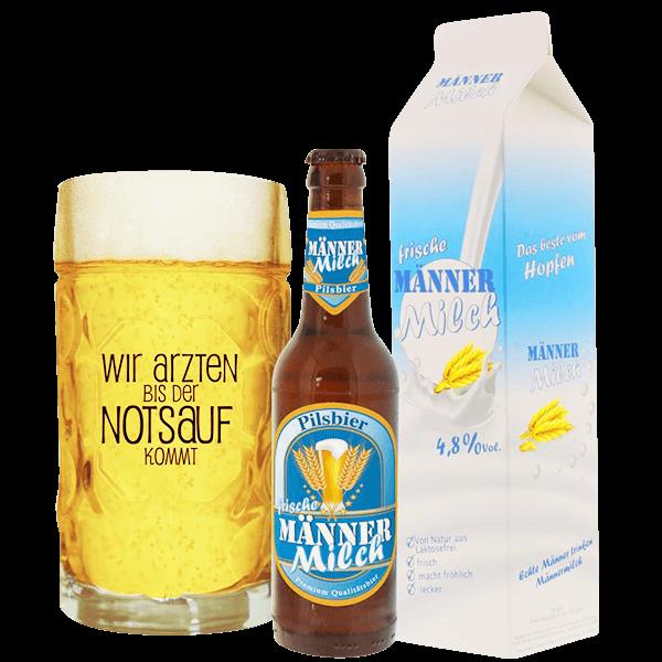 """Bier Geschenkset """"Männermilch"""""""