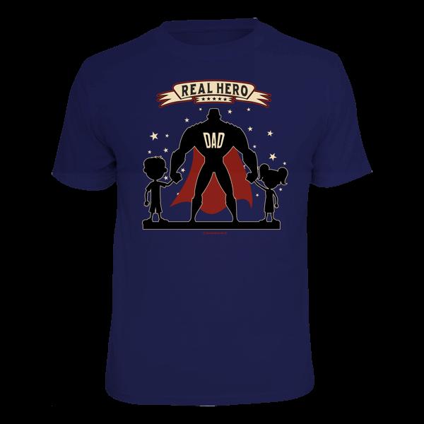 """T-Shirt """"Real Hero Dad"""""""