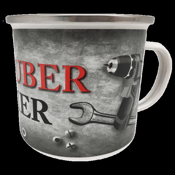 """Emaille-Becher """"Schrauber"""""""