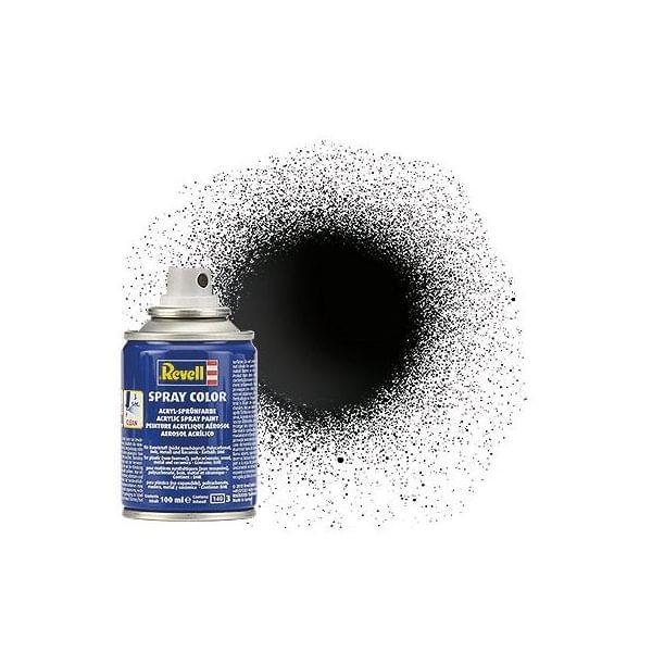 Acryl-Sprühfarbe Schwarz (glänzend)
