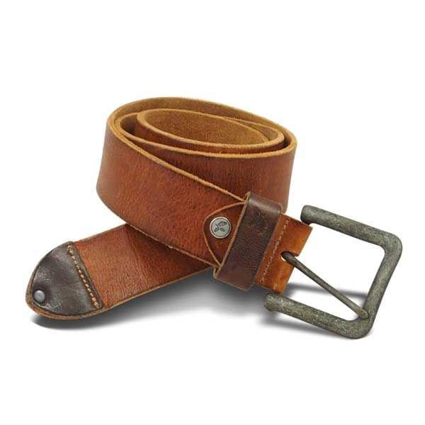 Vintage Ledergürtel (hellbraun XXL)