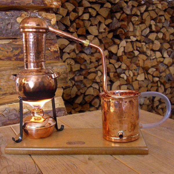 """0,5 Liter Destille """"Arabia"""" mit Spiritusbrenner"""