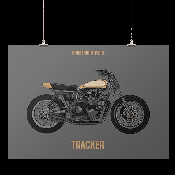 """Kunstdruck """"Tracker"""" von Bobber Brothers"""