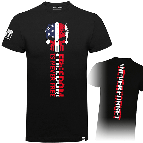 "Diesel Power Gear T-Shirt ""Never Forget Flag"""