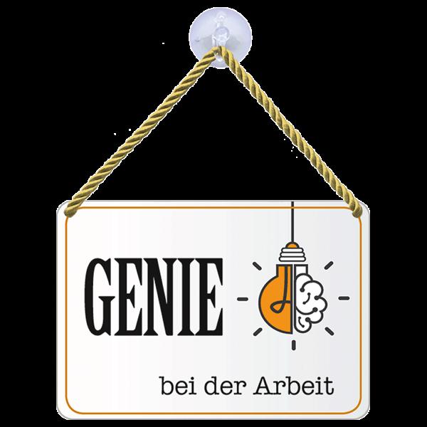 """Hängeschild """"Genie"""""""