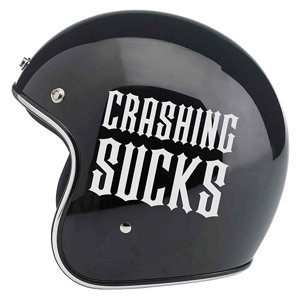 "Aufkleber ""Crashing Sucks"" von Bobber Brothers"