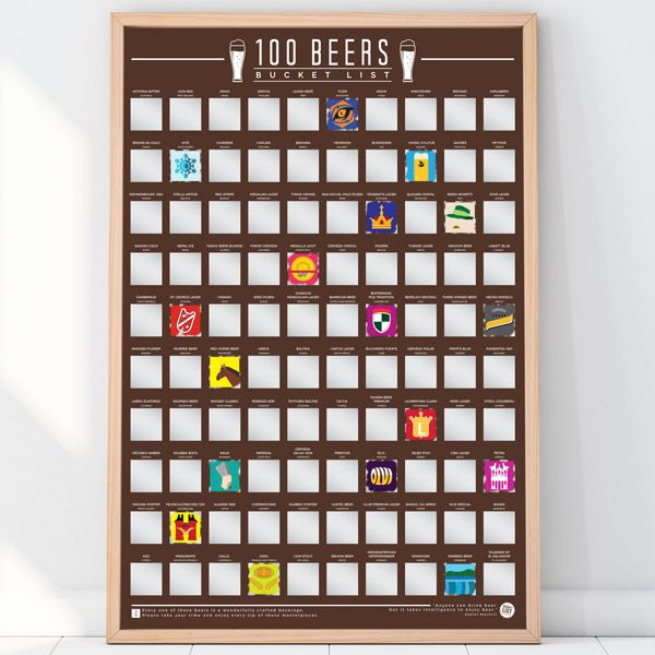 """Rubbel-Poster """"100 Beers - Bucket List"""""""