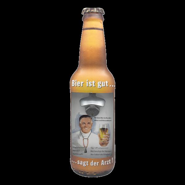 """Wandflaschenöffner """"Bier ist gut, sagt der Arzt"""""""