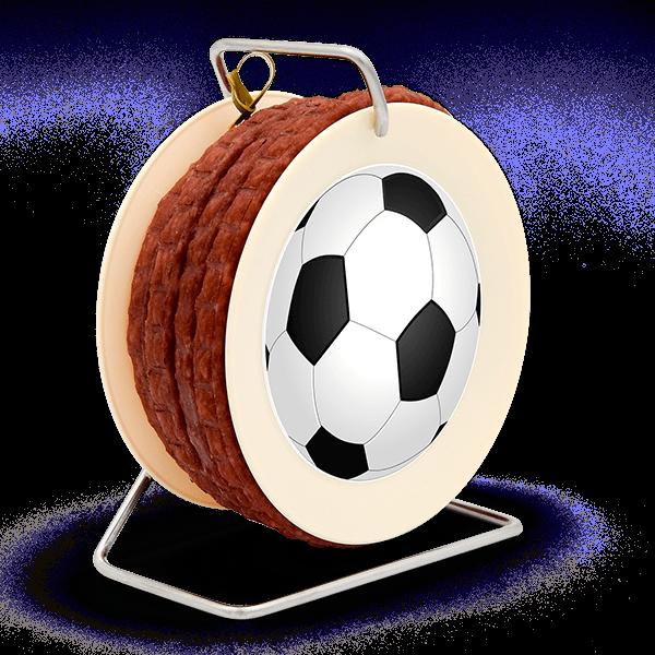 """3,5 Meter Snack-Wurst auf """"Fußball-Kabeltrommel"""""""
