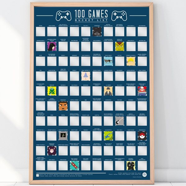 "Rubbel-Poster ""100 Games - Bucket List"""