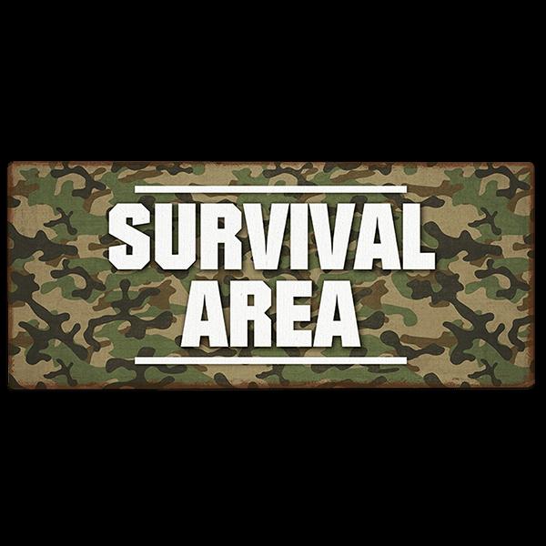 "Metallschild ""Survival Area"""