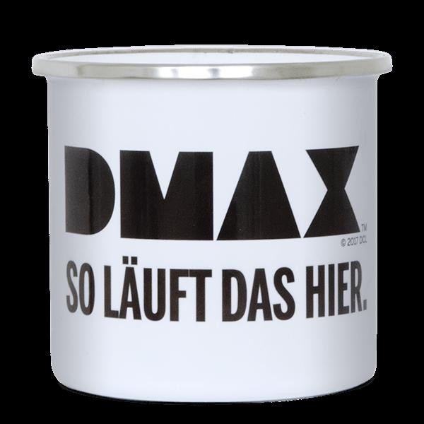 """DMAX Emaille-Becher """"So läuft das hier"""""""