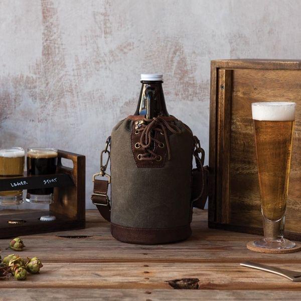 Homebrew Biergrowler mit Tragetasche