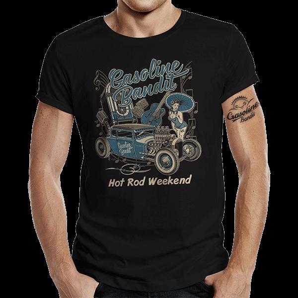 """T-Shirt """"Hot Rod Weekend"""" von Gasoline Bandit"""
