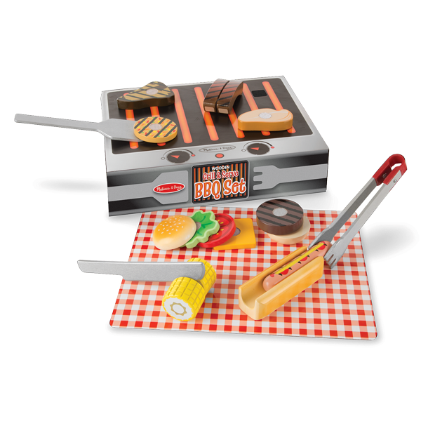BBQ-Set aus Holz