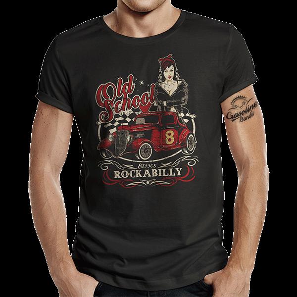 """T-Shirt """"Old School Rock"""" von Gasoline Bandit"""
