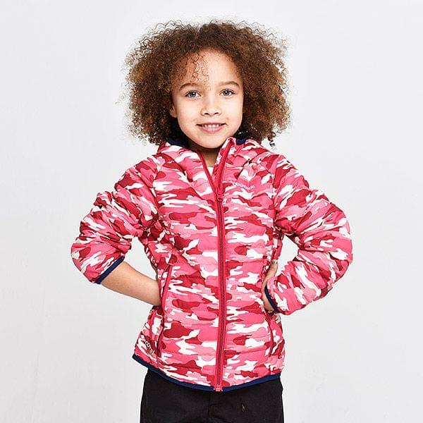 DISCOVERY ADVENTURES KIDS CLIMAPLUS JACKE Pink Camo