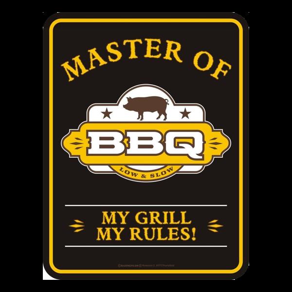 "Blechschild ""Master of BBQ"""
