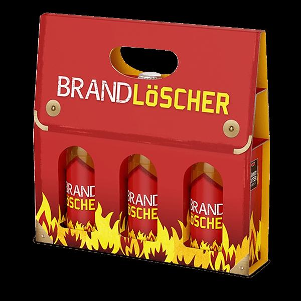 """Männerkoffer """"Brandlöscher"""" (3 Bierflaschen im Tragerl)"""