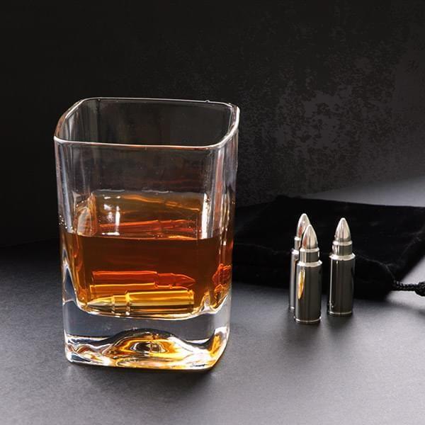 6 Whiskey-Kühlsteine in Patronenform