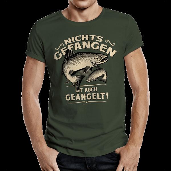 """T-Shirt """"Nichts gefangen ist auch geangelt"""""""