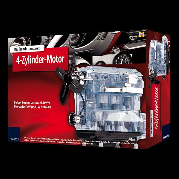 4-Zylinder-Motorbausatz mit Buch