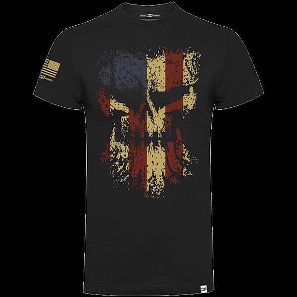 "Diesel Power Gear T-Shirt ""Grunge Skull"""