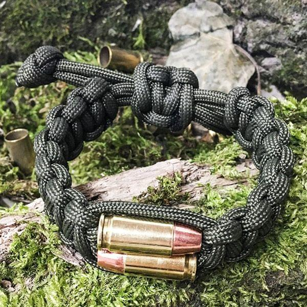 "Paracord Armband ""Bullet Twins"""