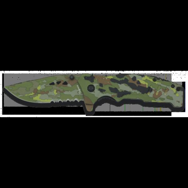 """Einhandmesser mit partiellem Wellenschliff """"Camouflage"""""""