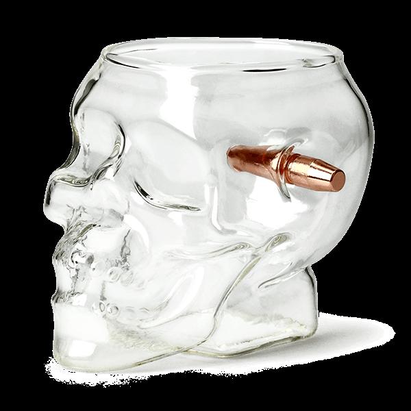 """Trinkglas """"Schusswechsel Skull"""""""