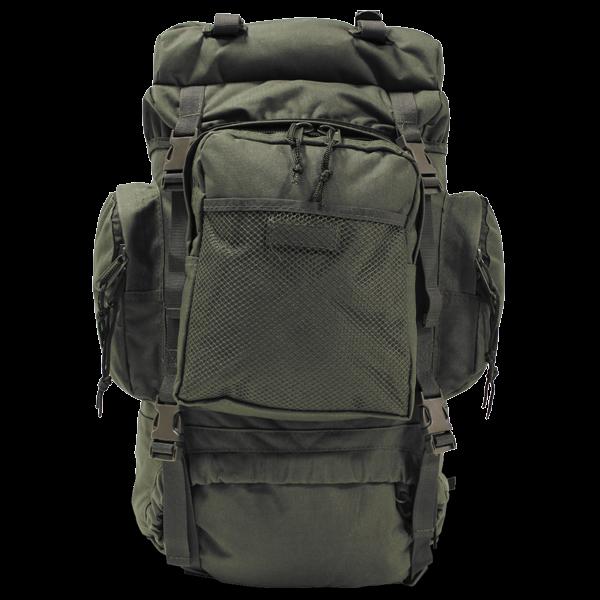 55 Liter Rucksack im Military-Look