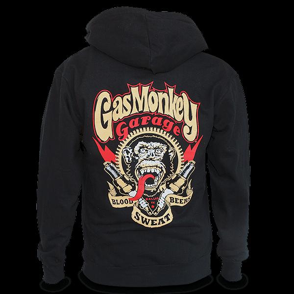 "Gas Monkey Garage Reißverschluss-Hoody ""Spark Plugs"""