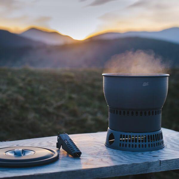 Großes Spiritus-Kochset mit Wärmetauscher