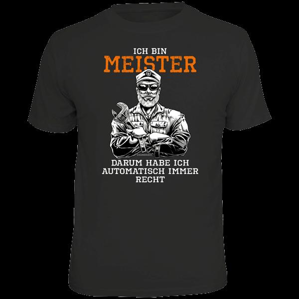"T-Shirt ""Ich bin Meister"""