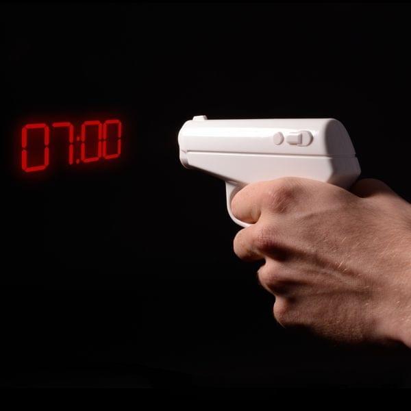 """Projektionswecker """"Pistole"""""""
