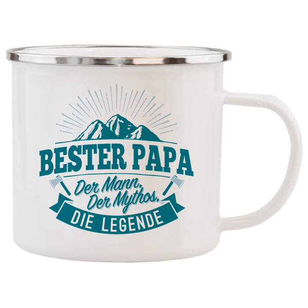 """Emaille-Becher """"Bester Papa"""""""