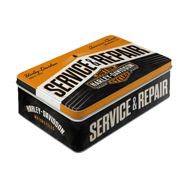 "Flache Blechdose ""Harley-Davidson - Service & Repair"""