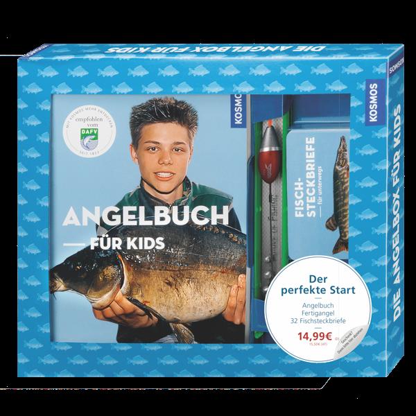 Die Angelbox für Kids (Buch, Angel, Infokarten)