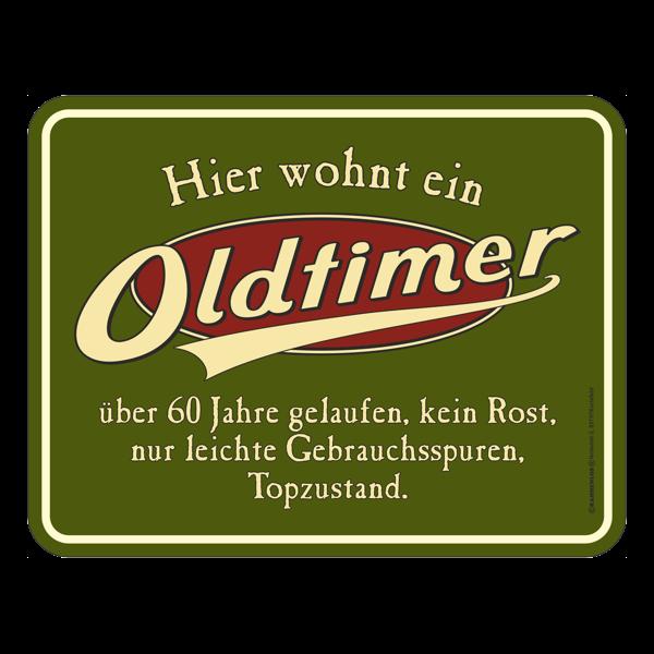 """Blechschild """"Oldtimer"""" 60"""
