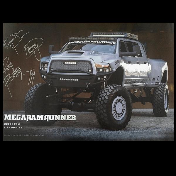 Handsigniertes Diesel Power Gear Poster