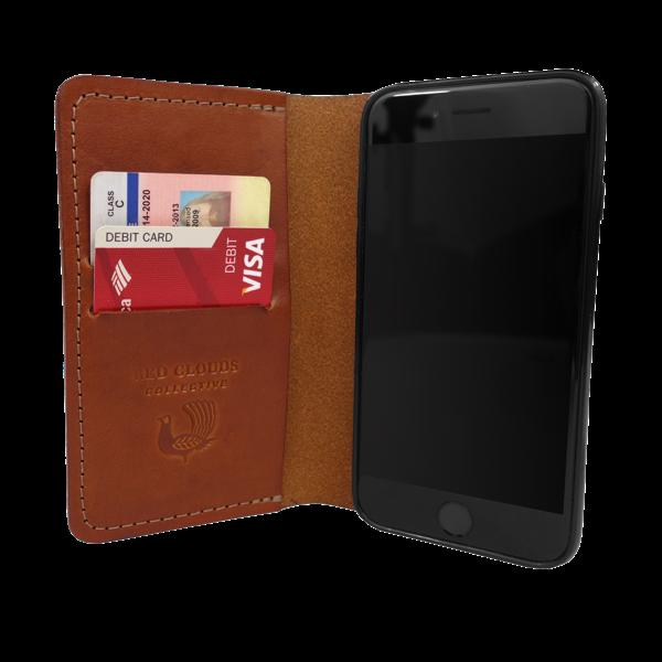 iPhone 6 Lederhülle mit Kreditkartenfächern