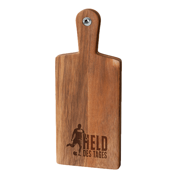 """Holzbrett """"Held des Tages"""""""