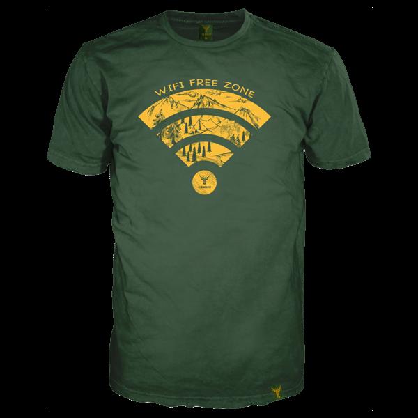 "T-Shirt ""WIFI Free Zone"""
