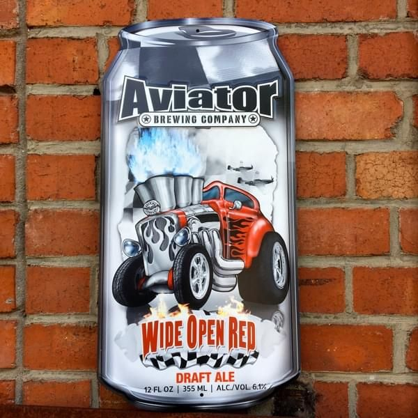 "Brauerei-Blechschild ""Aviator - Hot Rod Red Ale"""