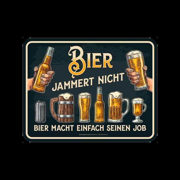 """Magnetschild """"Bier jammert nicht"""""""