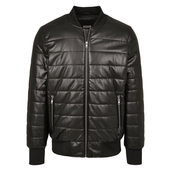 "Bubble Bomberjacke ""Faux Leather"" von Urban Classics"
