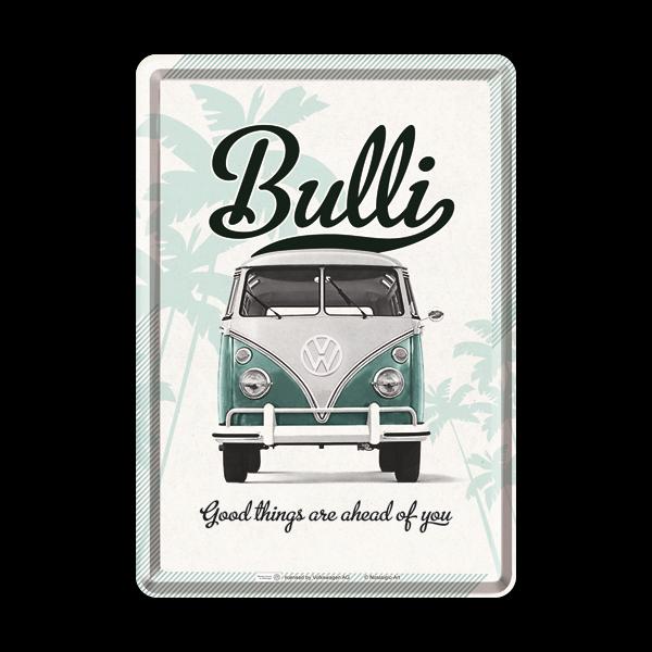 "Blechpostkarte ""VW Bulli"" 10 x 14 cm"