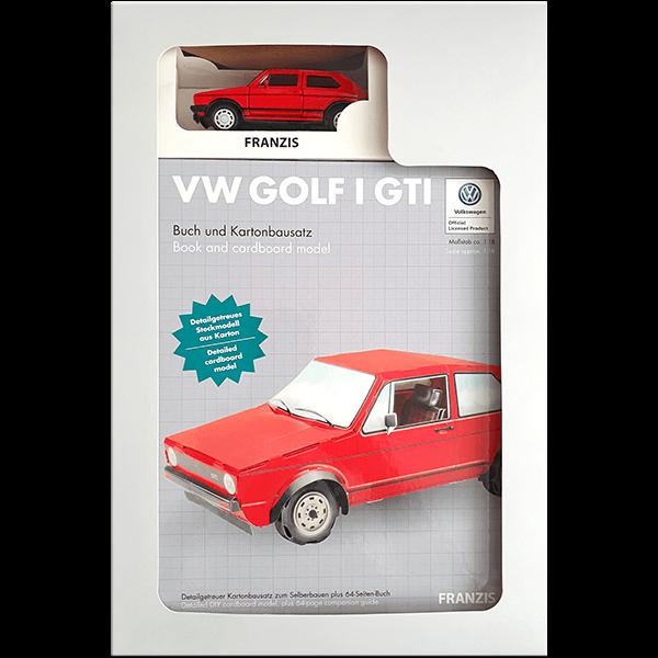 VW Golf I GTI Bausatz aus Karton plus Modell