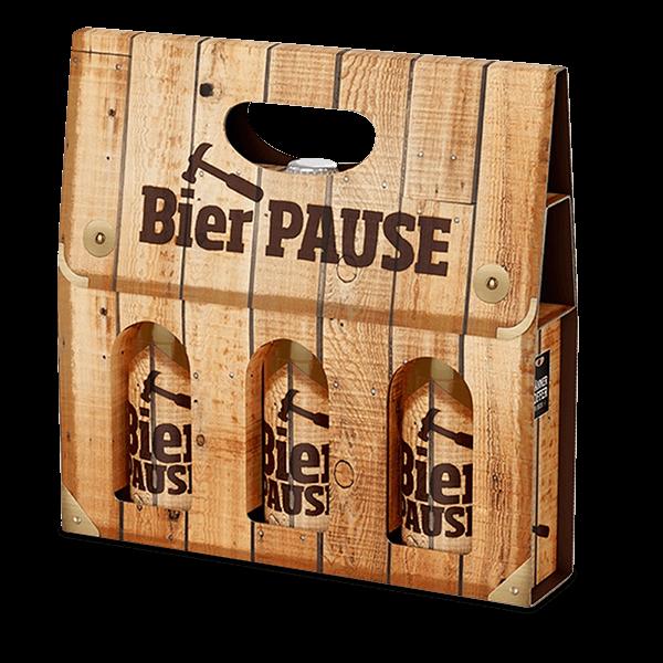 """Männerkoffer """"Bierpause"""" (3 Bierflaschen im Tragerl)"""